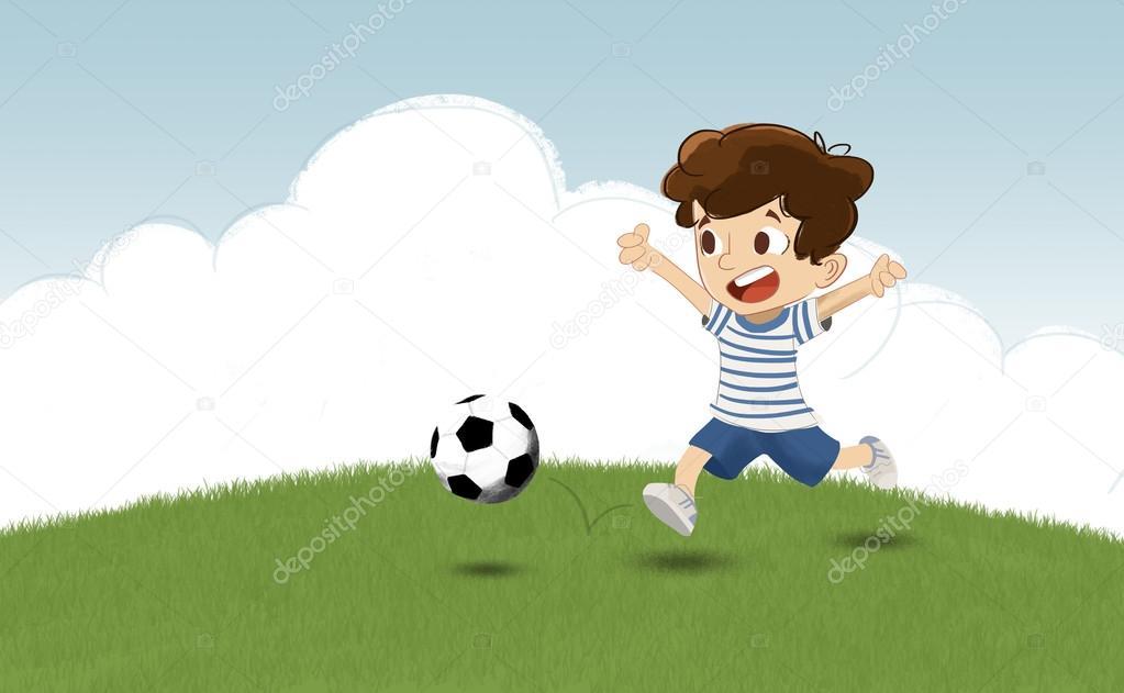 Bambino Che Gioca A Calcio Foto Stock Pixel107 106982150
