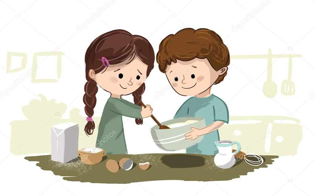 Imágenes Niños Cocinando Dibujo Niños Cocinando En La Cocina