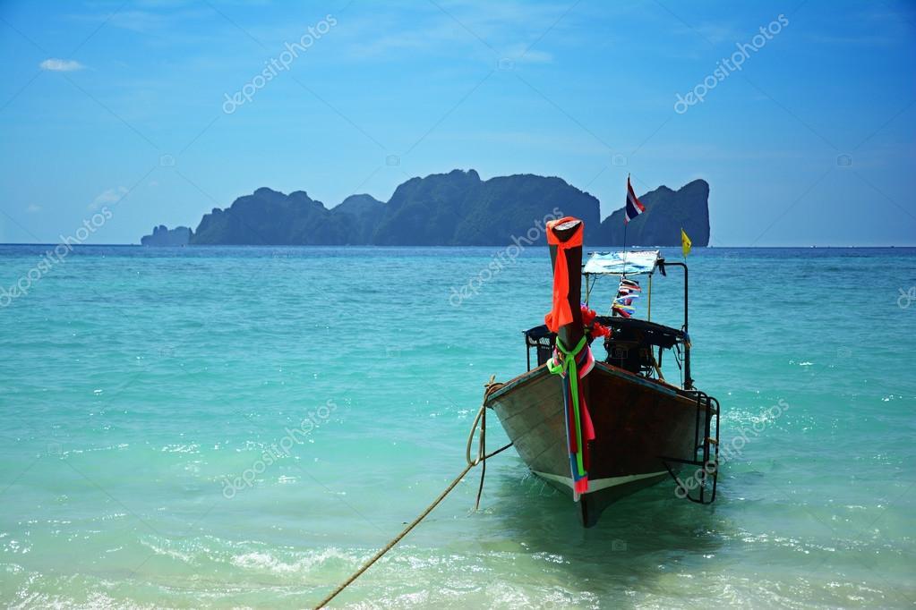 Long tail boat at Koh Phi Phi, Thailand