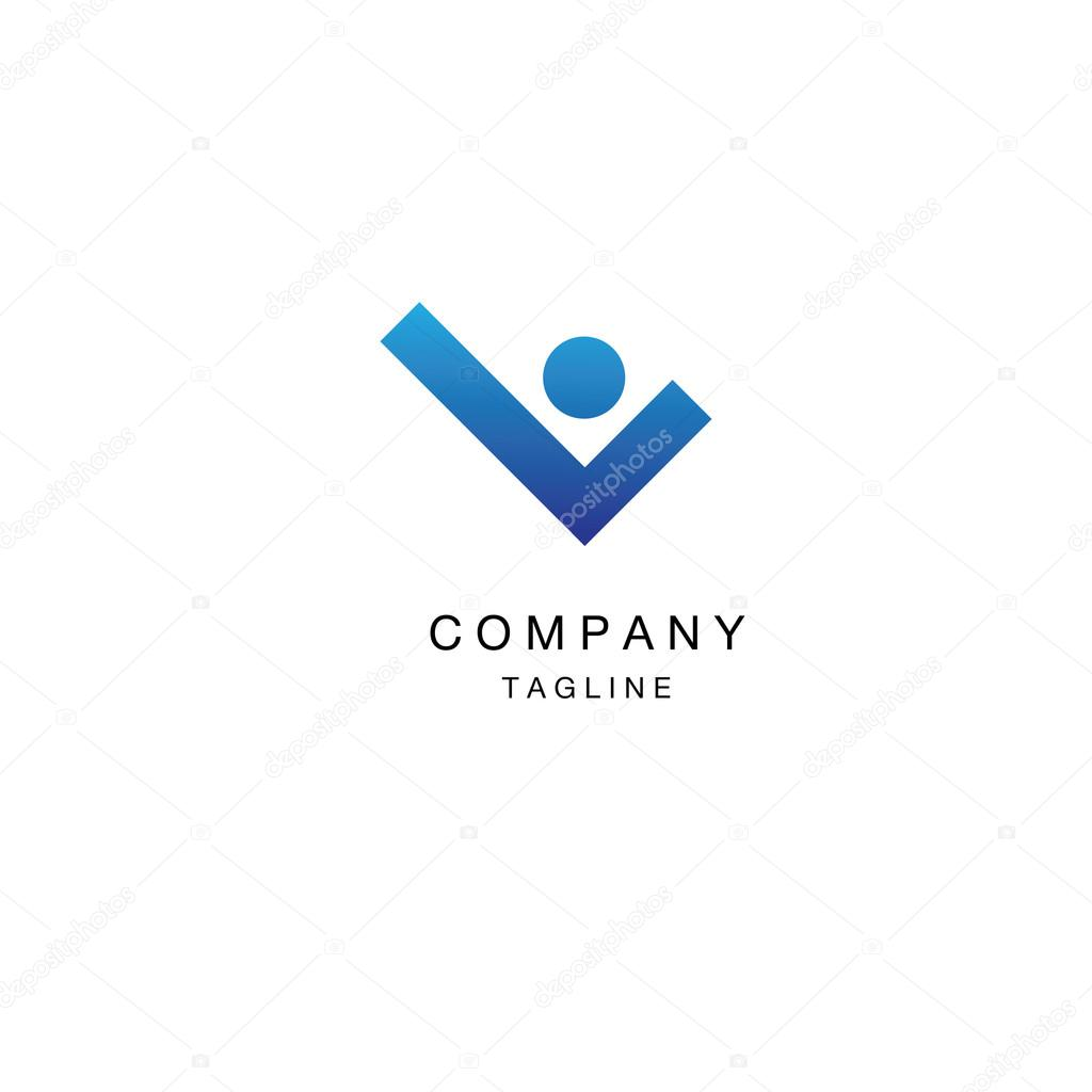 logo template lo and human vector logotype ストックベクター