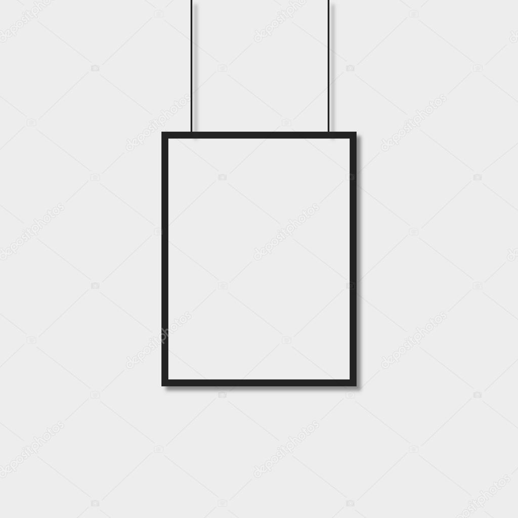 Rahmen für ein Poster. Mock-up. Vorschau — Stockvektor ...