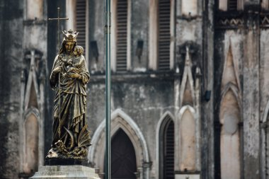 Christian bronze statue