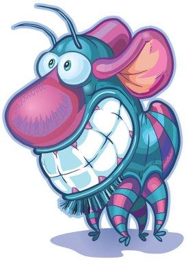imaginary creature or monster vector cartoon clip art illustration