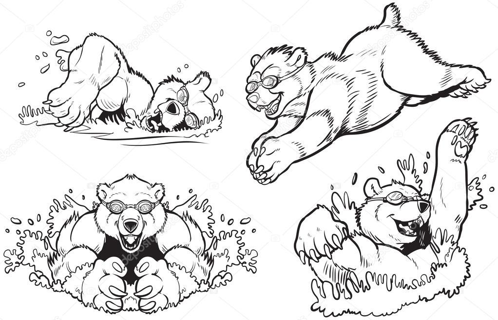 Polar Bear Swimming wallpapers | Polar Bear Swimming stock photos