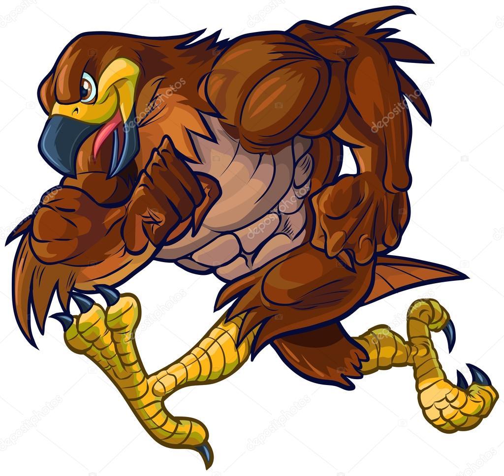 Vector de dibujos animados guila o halc n mascota - Imagenes de animacion ...