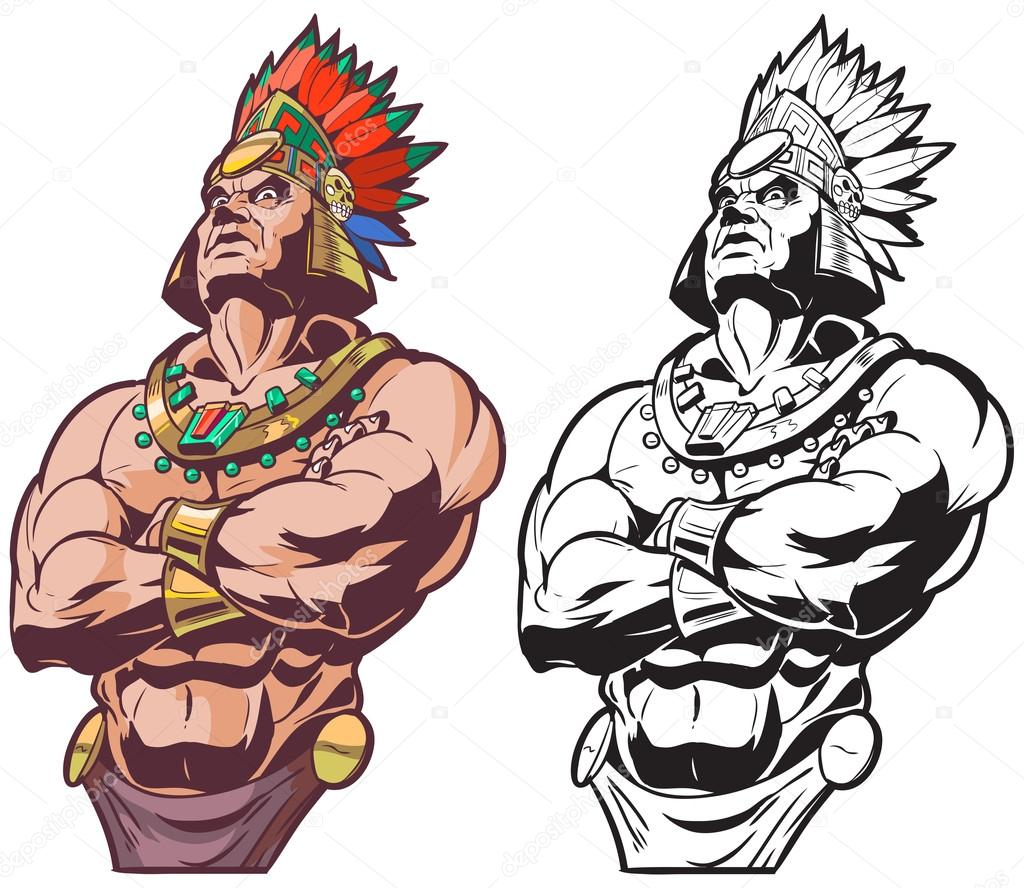 Vector Guerrero Azteca Inca O Maya O Azteca Guerrero O Jefe