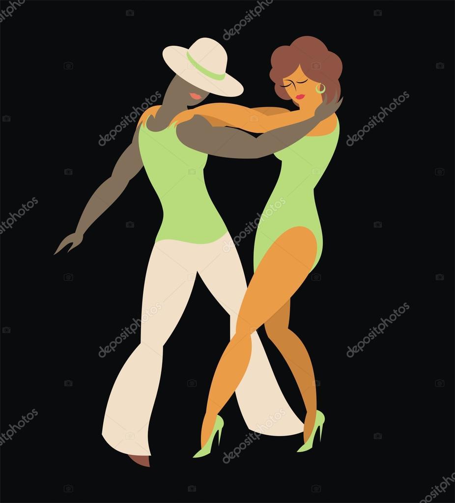 Dancers of salsa