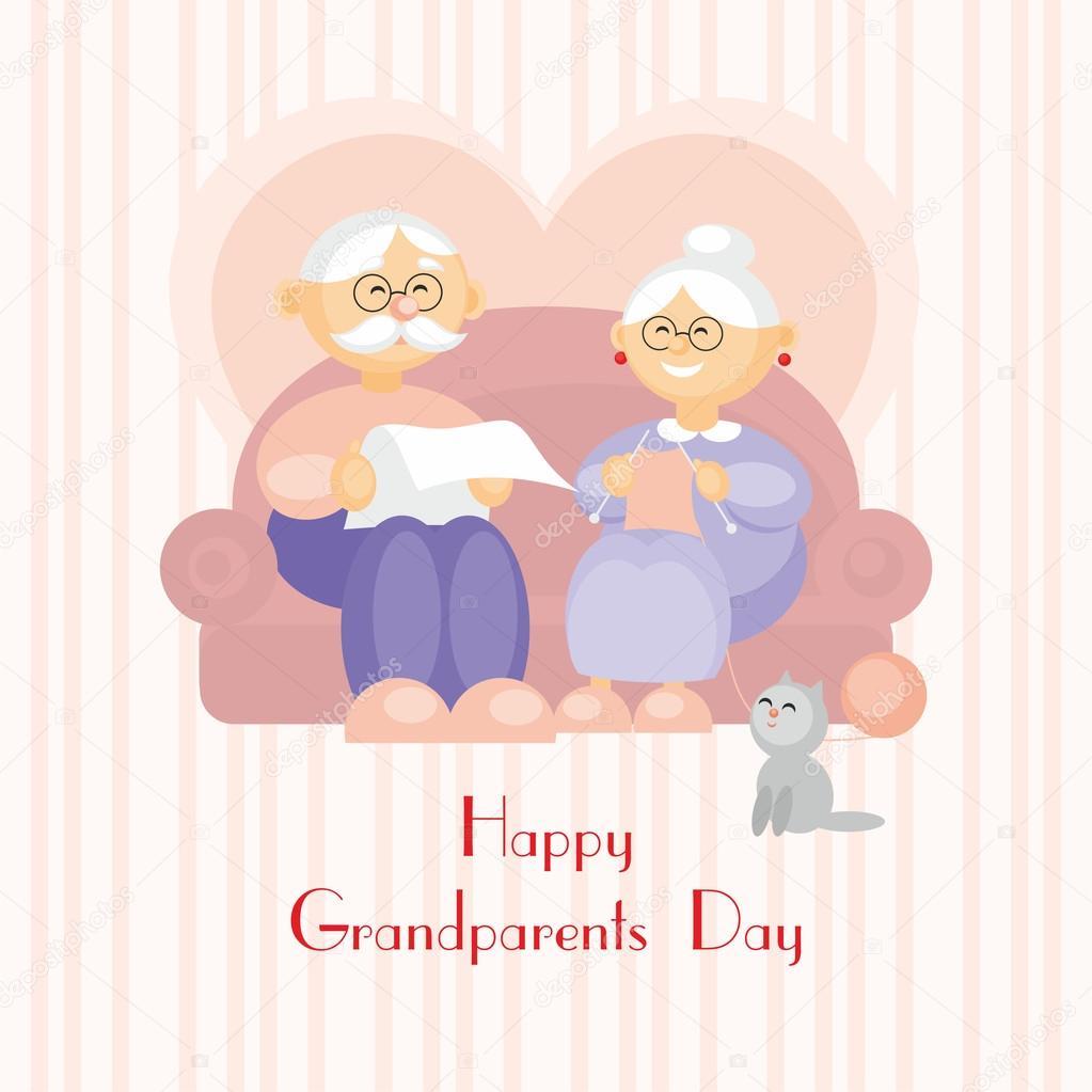 Grandparents Day Greeting Card Stock Vector Belova8516yandex