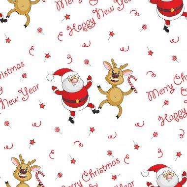 Santa Claus and deer