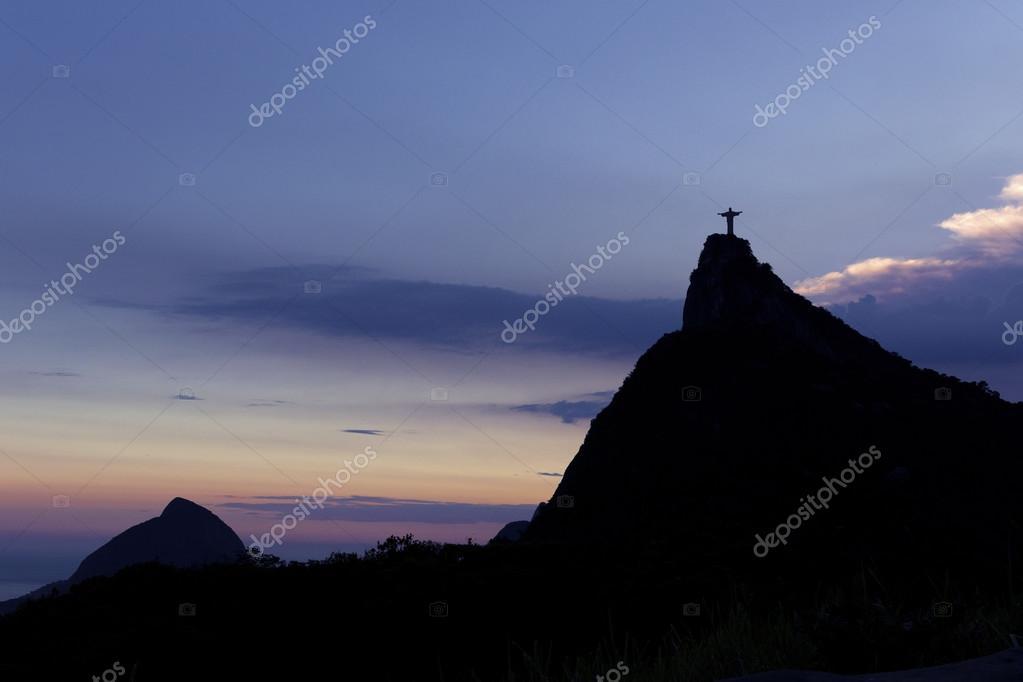 Christ the Redeemer Statue in the evening sunlight, Rio de Janeiro, Brazil.