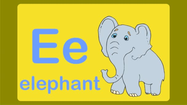 Animal themed alphabet from A to Z