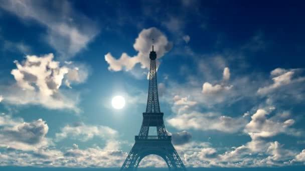 Timelapse Paříže s Eiffelovy věže