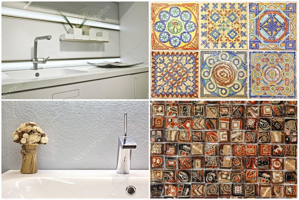 Keuken Tegels Portugese : Moderne stijl van wastafel in de badkamer en de keuken portugees