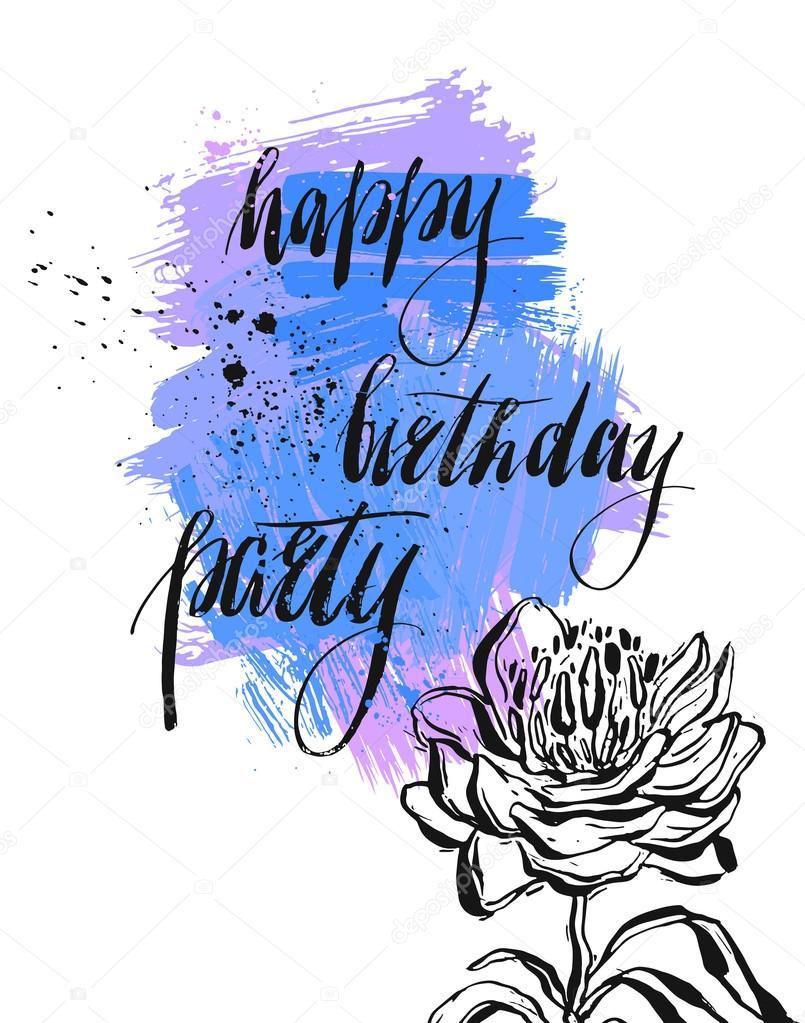 happy birthday card template vector vetores de stock helter