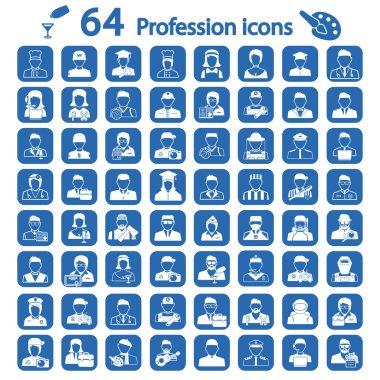 Big profession icon set stock vector