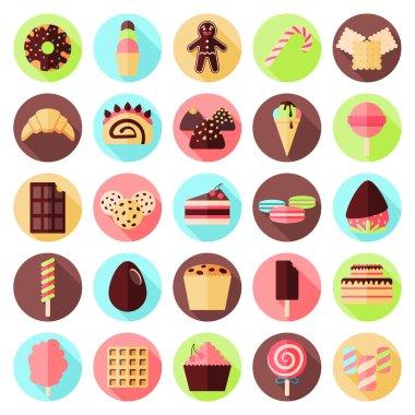 sweets flat icon set