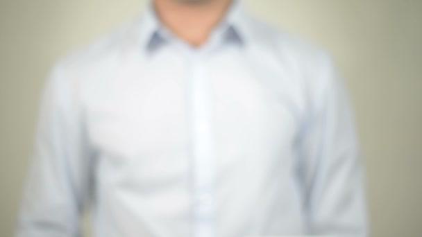 Grafika, átlátható képernyő írás ember