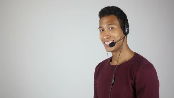 Smiling Call Center Operator, Service Center Agent