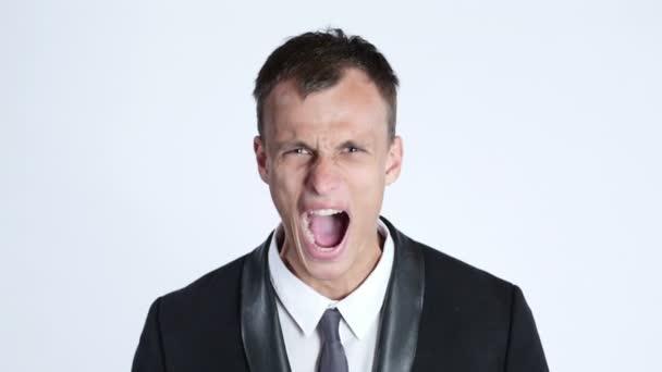 portrét podnikatele v hněvu křik