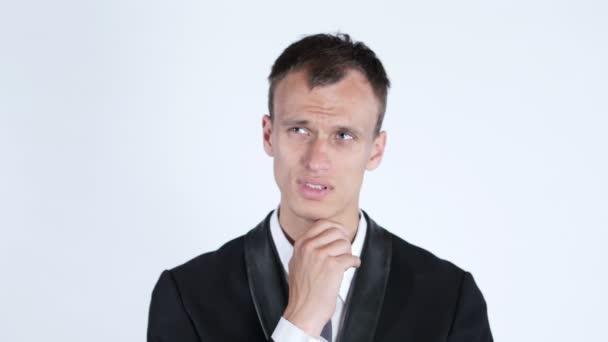 Portrét mladého obchodníka myšlení