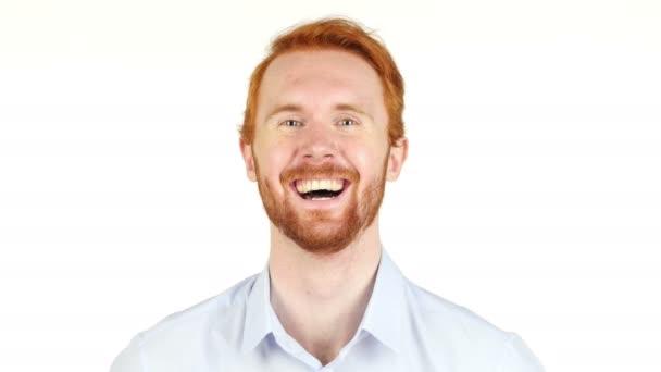 portrét mladého podnikatele, smích, usmíval se