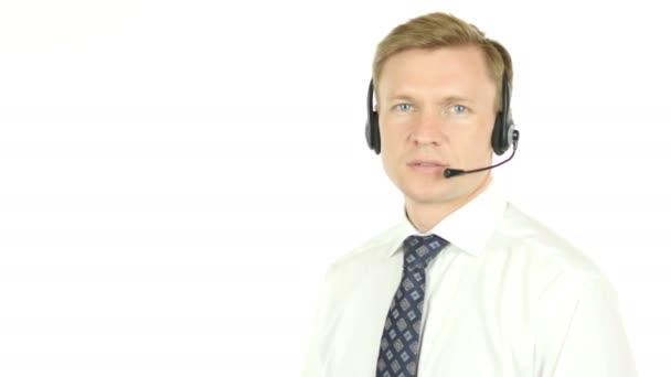 Usmívající se Agent zákaznické podpory služby operátora