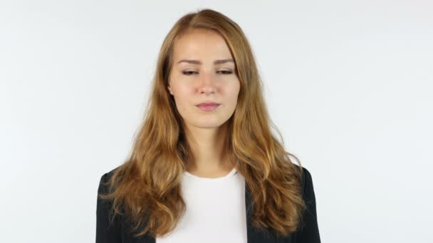 Portrait Of Young  Businesswoman , White background