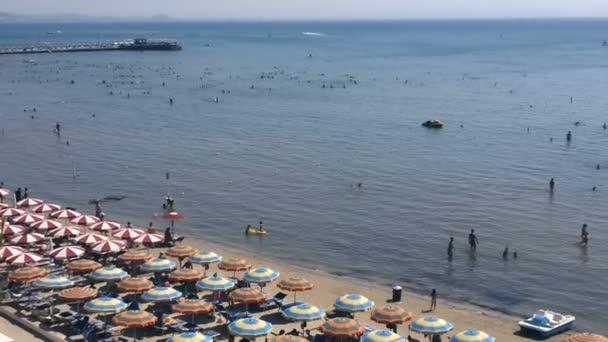 Durres, Albania - August 29, 2015:The Beach of Durres, Albania