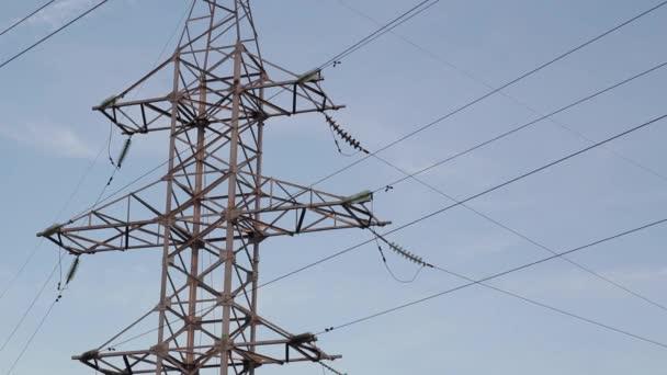 Elektrické vedení. Večer pylonu osnovy