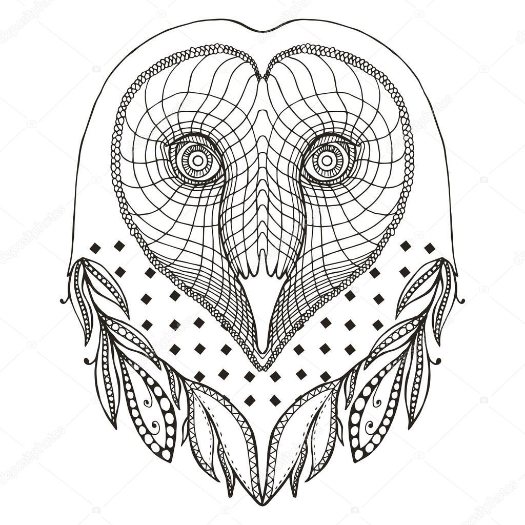 Dibujos Lechuza Mandala Ilusión óptica Lechuza Corazón Forma
