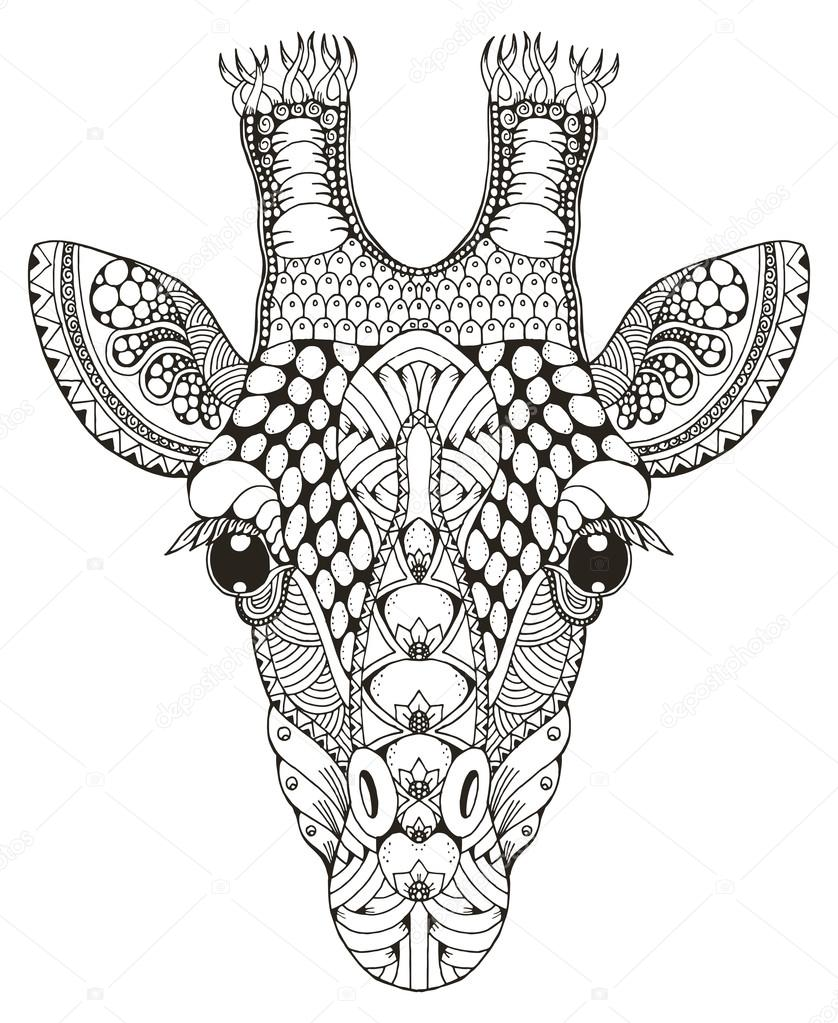 Adult Coloring Pages Giraffe