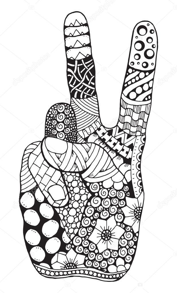 Imágenes: signos de la paz para imprimir | Zentangle estilizada ...