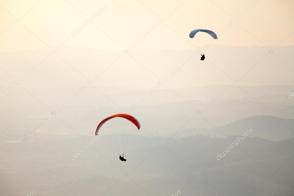 Paragliding in Brazil sky