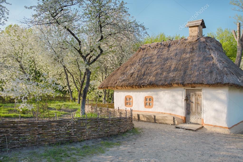 outdoor ukrainian national falk historical village in Kiev