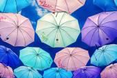 Fotografie bunte Regenschirme Hintergrund