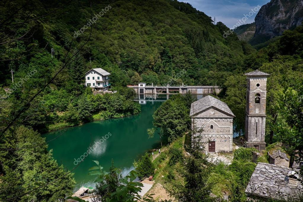 Isola Santa is a ghost village in Garfagnana, Tuscany, Italy