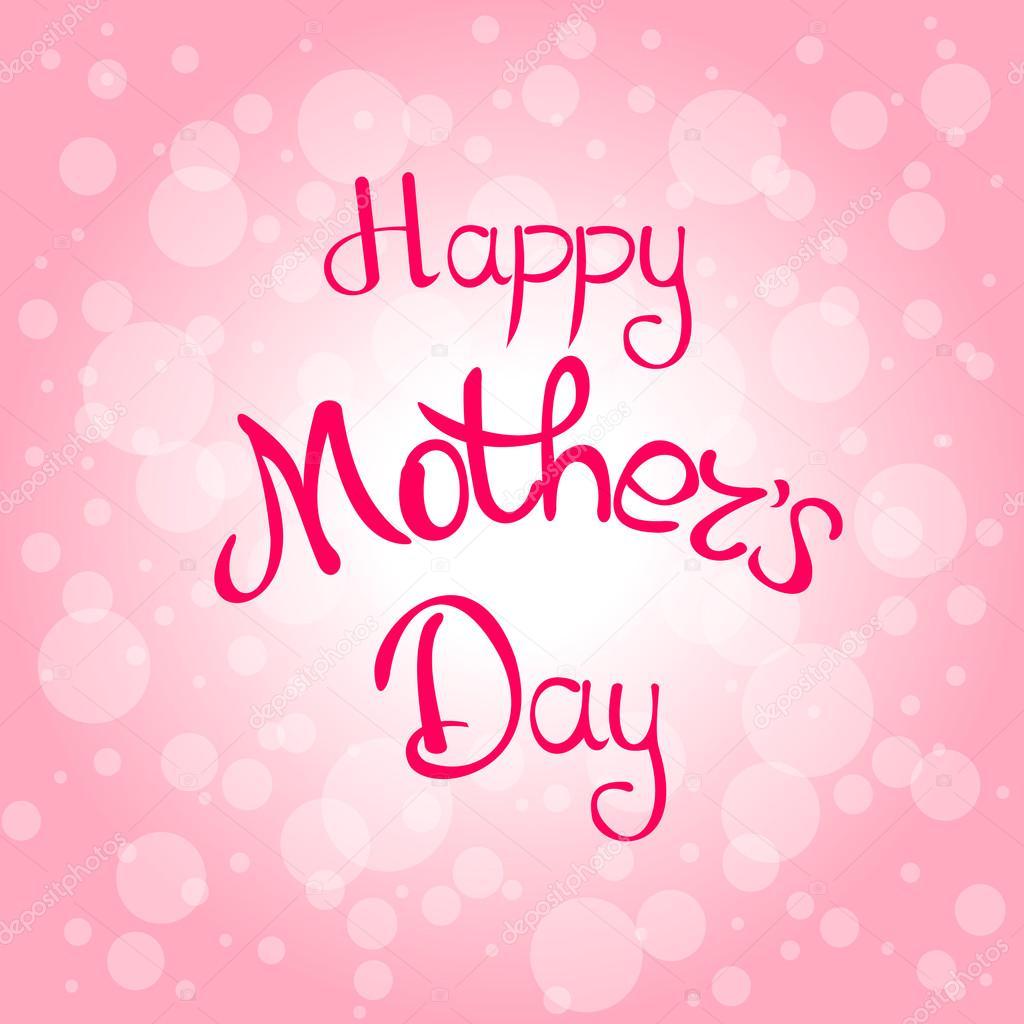grattis på mors dag kort Grattis på mors dag på rosa bakgrund — Stock Vektor © Asakura1102  grattis på mors dag kort