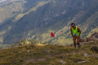 ALMATY, KAZAKHSTAN - 20 AUGUST: Race for skyrunning in honor of World Humanitarian Day