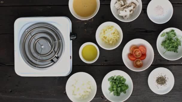 snídaně recept omeleta s zdravé ingredience