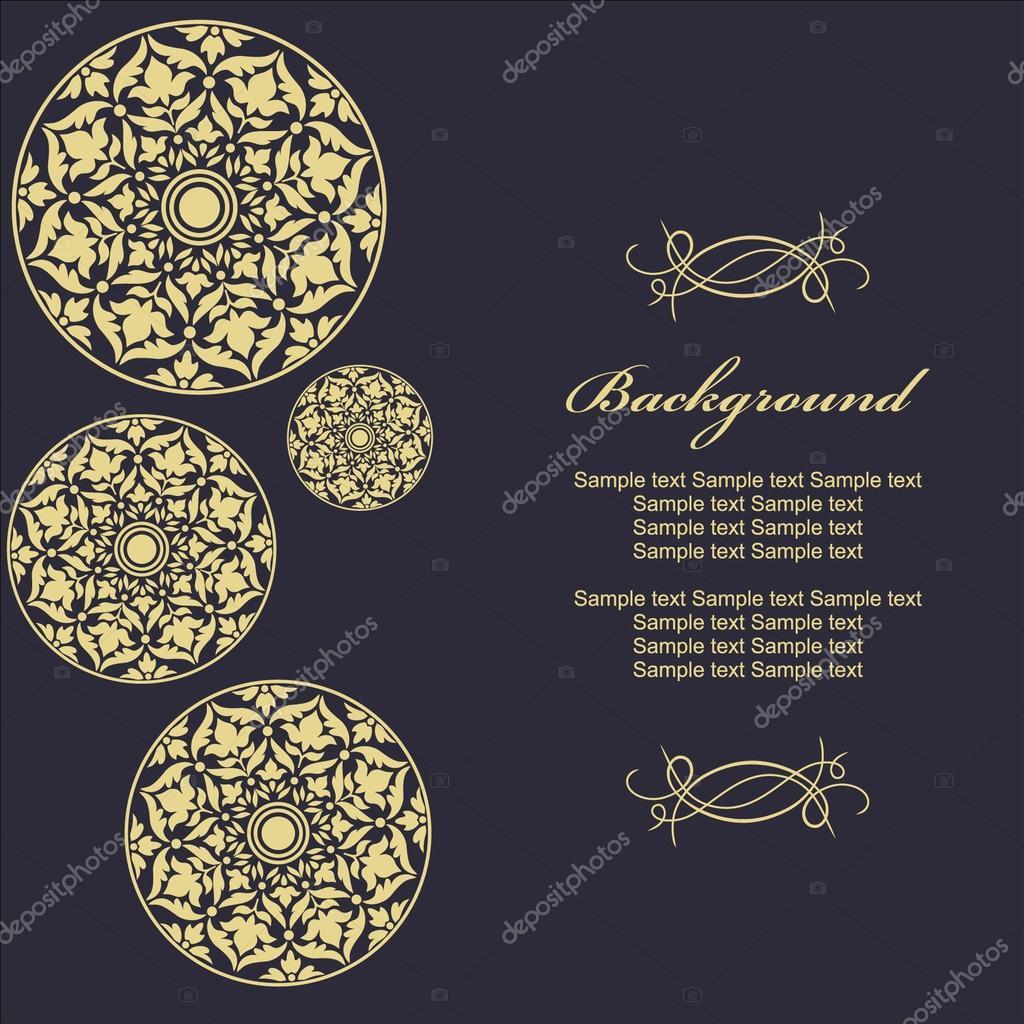 Stilvolle Vorlage mit floralen Ornamenten für Einladungen ...