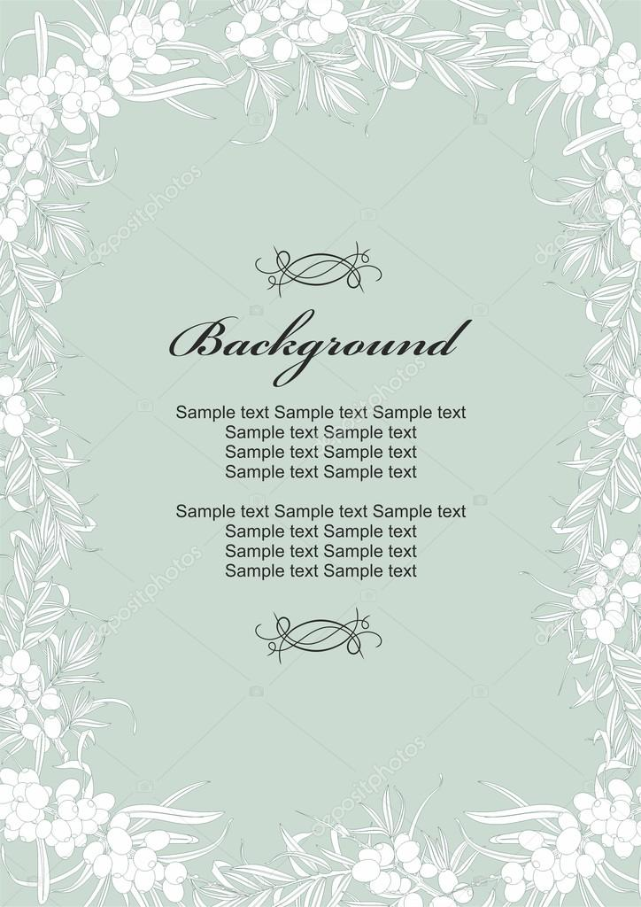 Template for invitations, greeting cards, booklets. Vector.