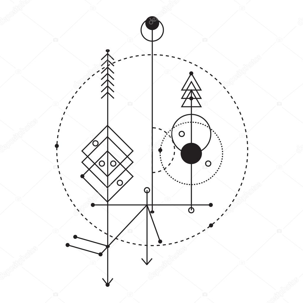 sacred geometry vector graphic design elements stock vector