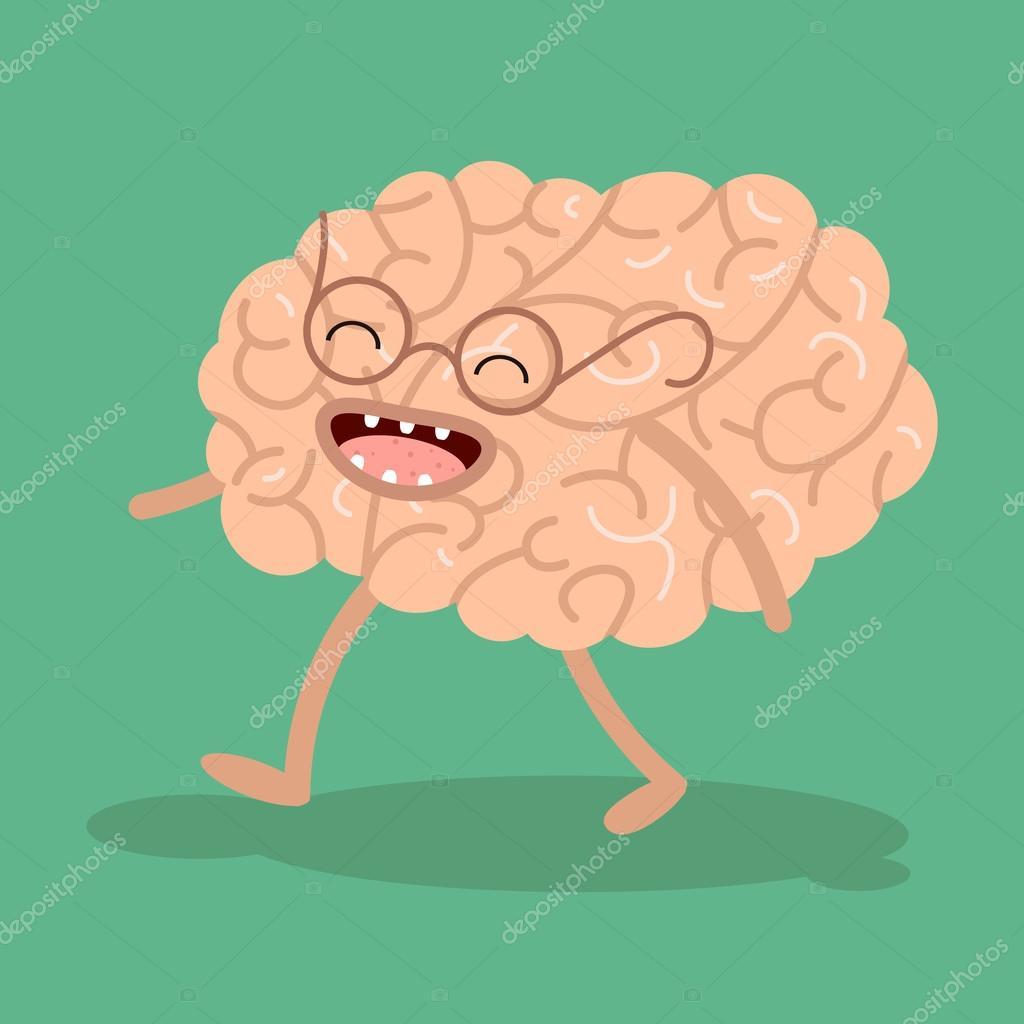 Vector Cartoon menschliche Anatomie. Gesundes Gehirn — Stockvektor ...