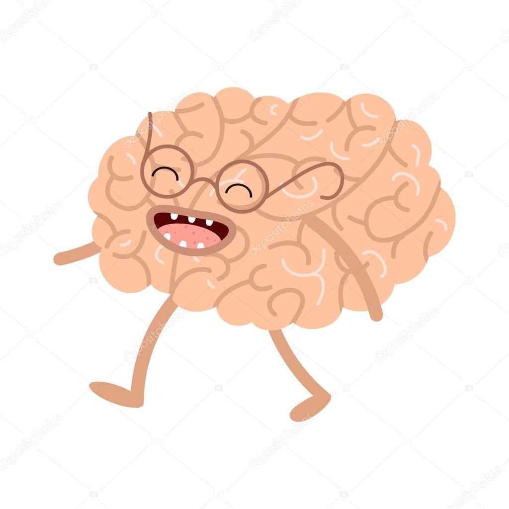 Anatomía humana de dibujos animados de vector. Cerebro sano — Vector ...