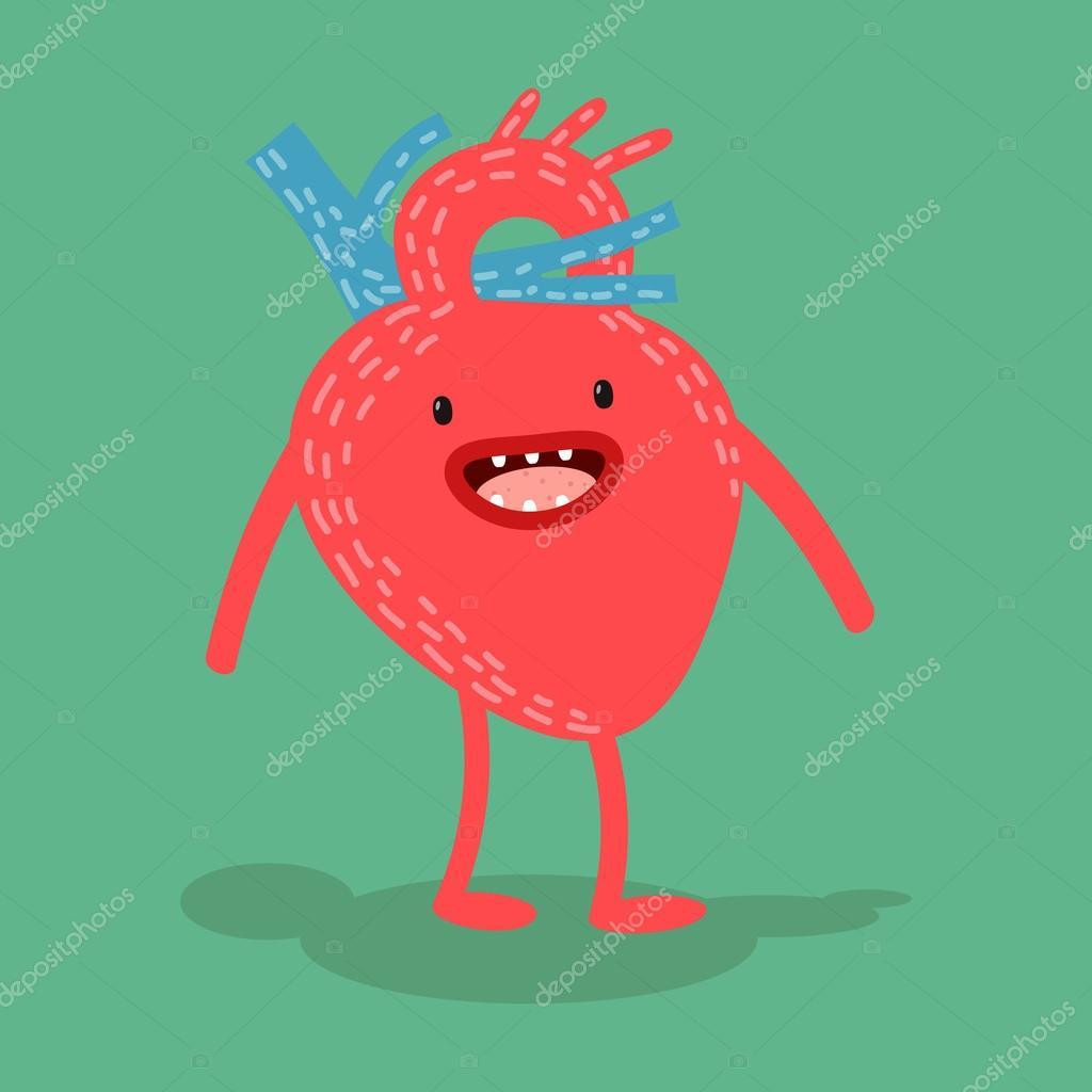 Vector heart. Cartoon human organs. — Stock Vector © prejudice.ju ...