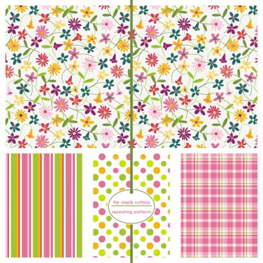 Seamless Patterns, Background Patterns, Floral Ditsy
