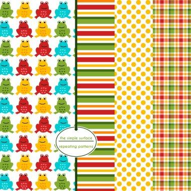 Colorful Frog Scrapbook Paper