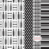 Fotografie Fathers Day Gift Wrap, Tie Scrapbook Paper