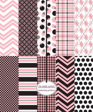 Pink & Black Scrapbook Paper