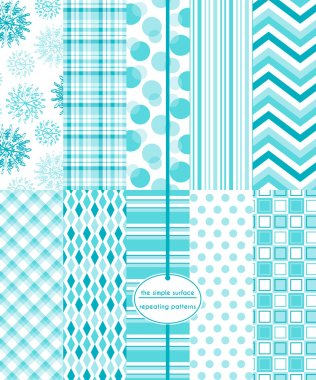 10 seamless winter patterns for digital paper, scrapbooking, gift wrap, invitations, announcements, backgrounds, borders and more.